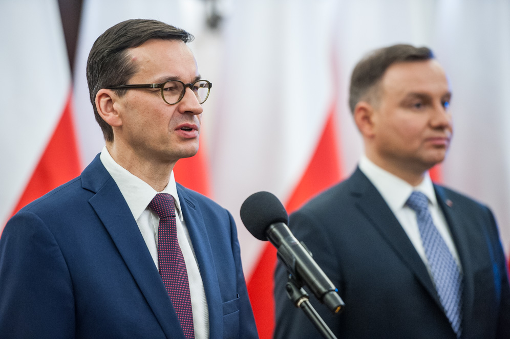 Morawiecki Duda/fot. W. Kompała / KPRM
