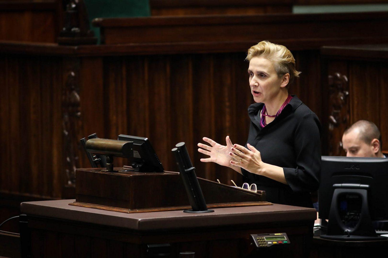 Joanna Scheuring-Wielgus/ fot. Kancelaria Sejmu/Rafal Zambrzycki